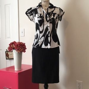 Brand New Black Candies Pencil Skirt